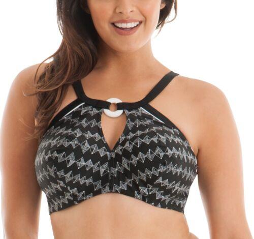 Curvy Kate CS4451 Euphoria Bikini Scollato Imbottito Top in Bianco e Nero