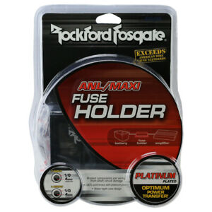 Rockford Fosgate Inline ANL or Maxi Fuse Holder for 1//0 AWG or 4 AWG Wire