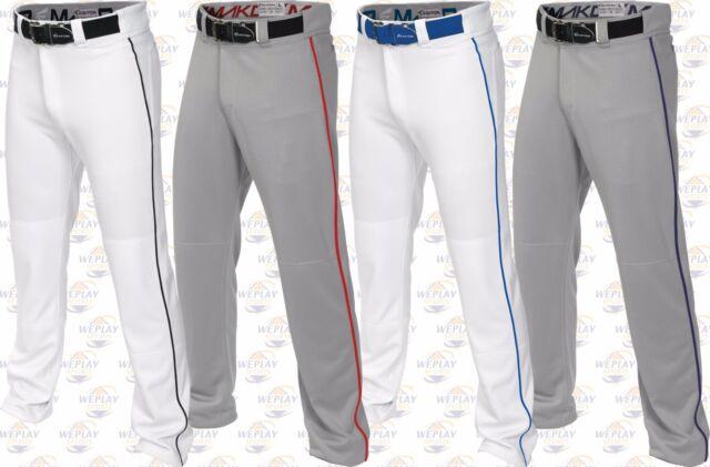 Baseball Pants Softball Pants W// Piping Braid A167101 Easton Adult Mens Mako 2