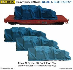 N or Small HO OO BLUE /'Canvas/' Tarped Covered Sheeted Road /& Rail Loads for Z