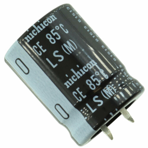 Nichicon LLS snap-in electrolytic capacitor 22 mm x 45 mm 820 uF @ 200V