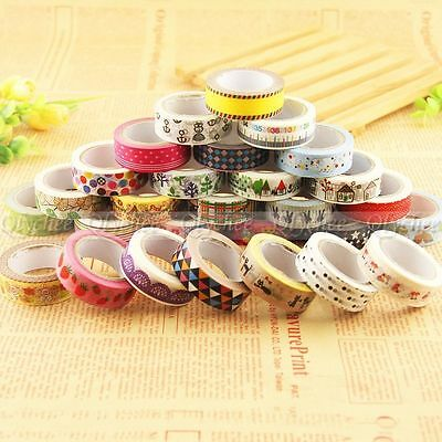 1X Newest Design Decorative Washi Tape Sticky DIY Stationery Adhesive Sticker