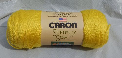 "Caron Simply Soft Yarn in /""Super Duper Yellow/"" #9612  New//NIP /& Non-Smoking Home"