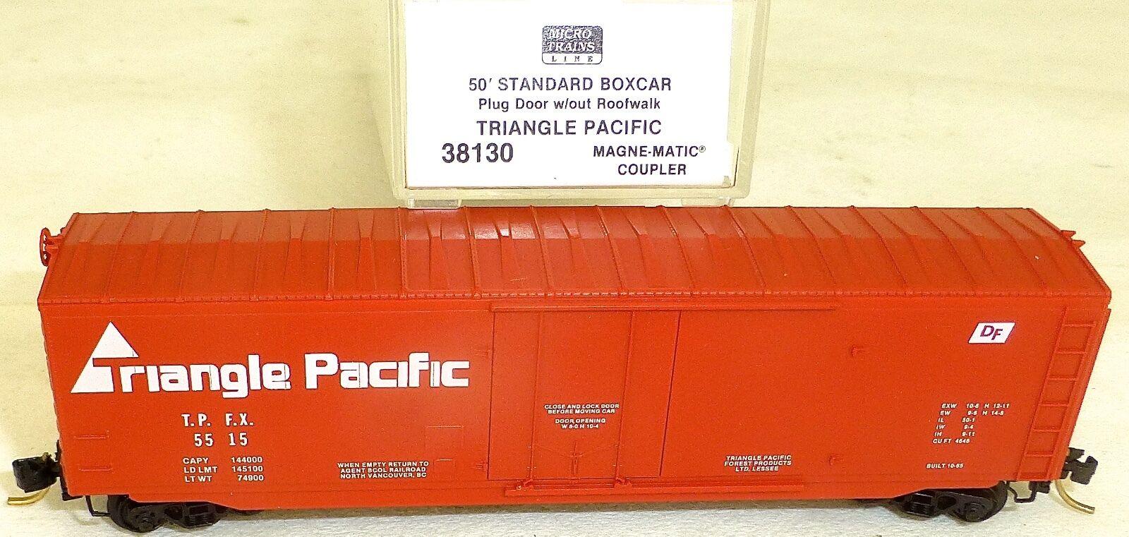 Triangle Pacific 50' Boxcar Plug Door Micro Trains Line 38130 n 1 160 OVP å