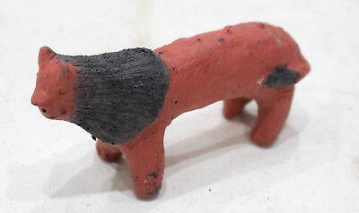 African Red Clay Cow Statue Samburu Kenya