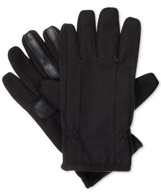 MSRP $110 Men/'s Isotoner Black Leather Gloves Medium