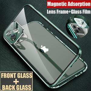 360°Magnetic HandyHülle Für iPhone 11 Pro XS Max X 7 8 Schutzhülle+Linsen Folie