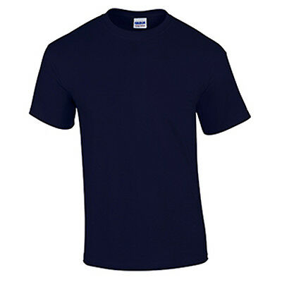 Indigo Blue WHOLESALE Blank Men/'s T Shirt Casual Work Mens Gildan Tee