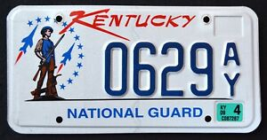 KENTUCKY-034-NATIONAL-GUARD-SOLDIER-034-2009-KY-Military-Specialty-License-Plate