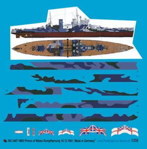 Peddinghaus-1-350-HMS-Prince-of-Wales-Rumpftarnung-10-12-1941