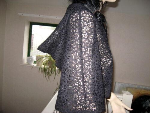 Nouveau gothique en dentelle noire à capuche Cape Poncho SHRUG châle party rock mariage taille unique