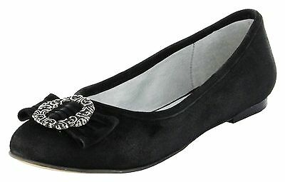 Bergheimer Trachtenschuhe Ballerinas schwarz Leder Ziegenvelour Damen Schuhe