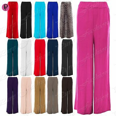Women's Clothing Clothing, Shoes & Accessories Well-Educated Womens Baggy Wide Legged Ladies Stretchy Trousers Pants Flared Palazzo Leggings High Quality Materials
