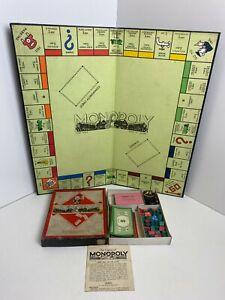 Rare-Vintage-Wartime-Monopoly-Board-Game-Waddingtons-COMPLETE