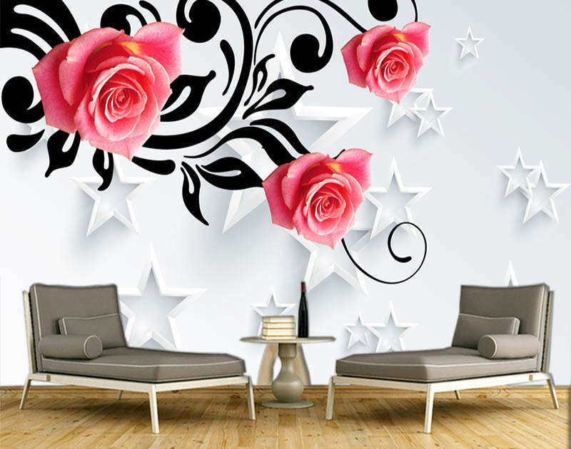 Static Unique Rose 3D Full Wall Mural Photo Wallpaper Printing Home Kids Decor
