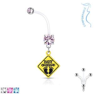 1pc-Pregnancy-Belly-Ring-BABY-ON-BOARD-1-034-Bio-Flex-Maternity-Navel-14g