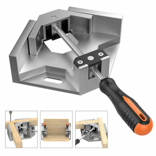 Aluminium Single Handle 90 Degrees Fast Right Angle Clamp Woodworking Fixture