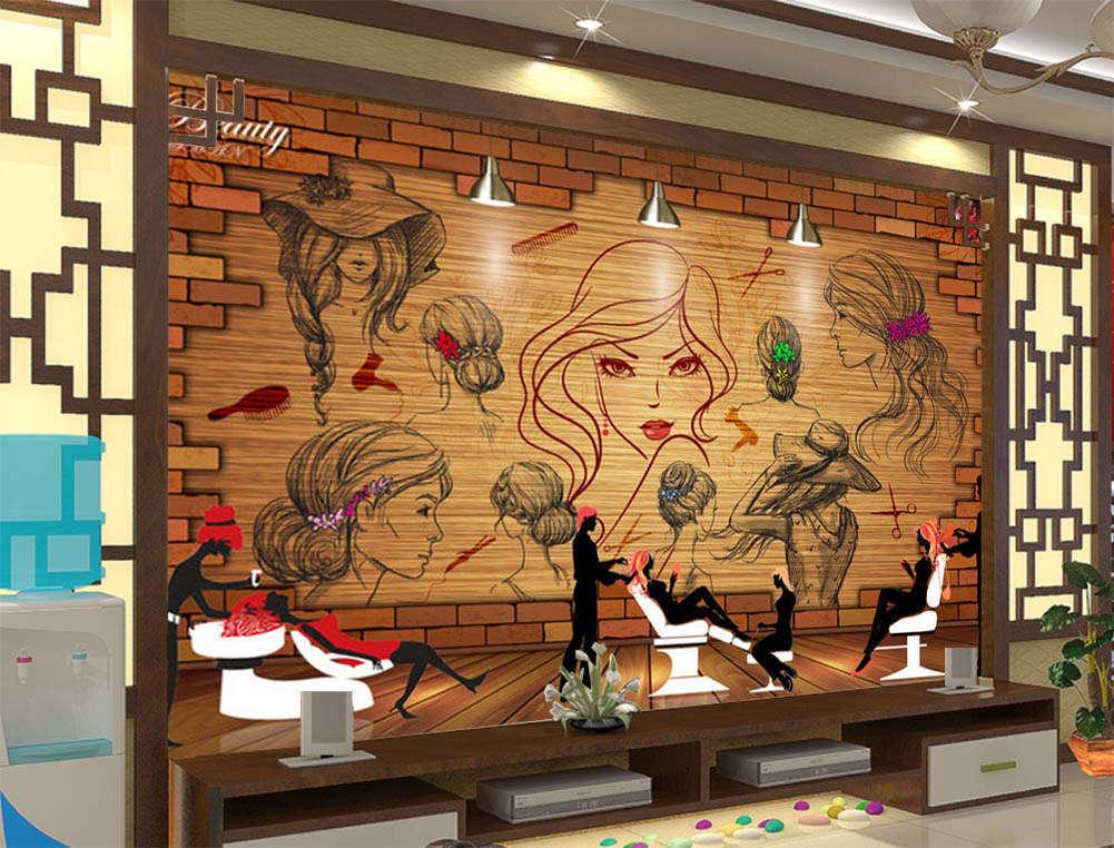 The Beautiful Hair 3D Full Wall Mural Photo Wallpaper Printing Home Kids Decor