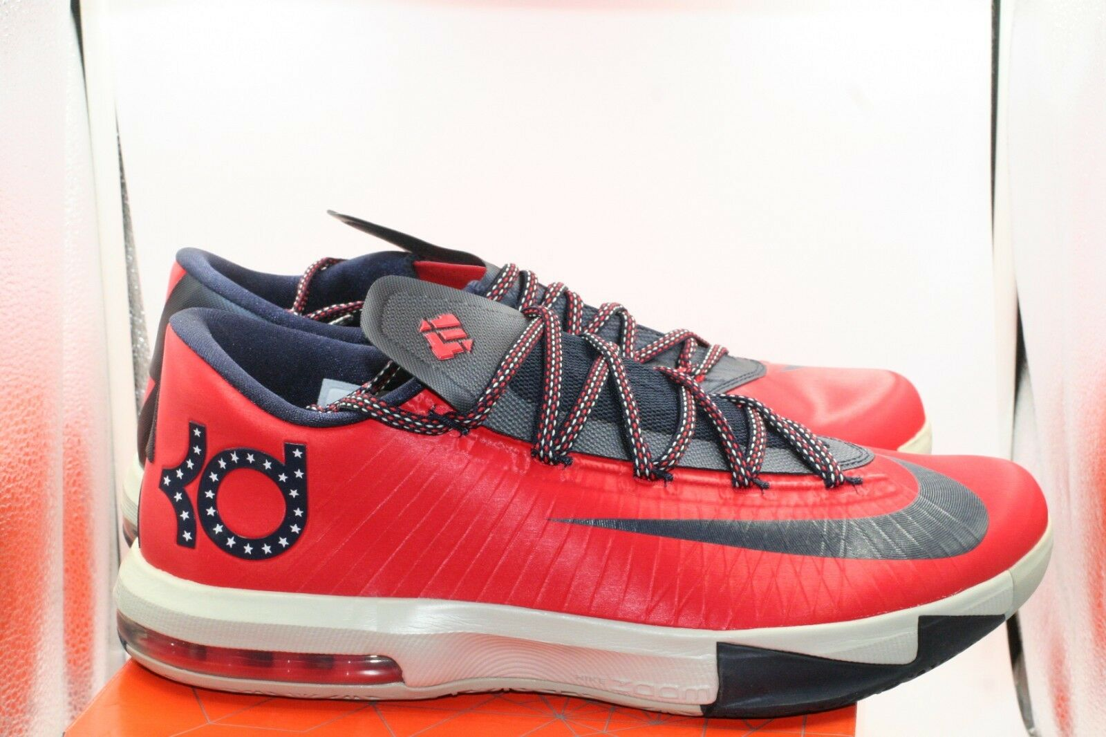 Nike KD 6 VI Size 11 Washington D.C. Crimson Red Obsidian bluee Team USA Durant