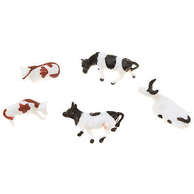 5PCS Sand Table Mixed Farm Animals Small Horse Mold Sandbox Game Toy Model