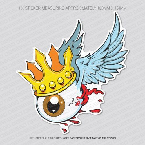 Macbook Car Laptop Flying Winged Eye Sticker Decal Notebook 5898