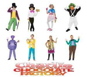 World Book Day Outfit NEW /'Willy Wonka/' Roald Dahl Boys Fancy Dress Costume