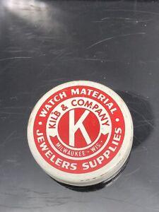 Kilb & Company Watch matériel Bijoutiers Fournitures Tin publicitaire de collection