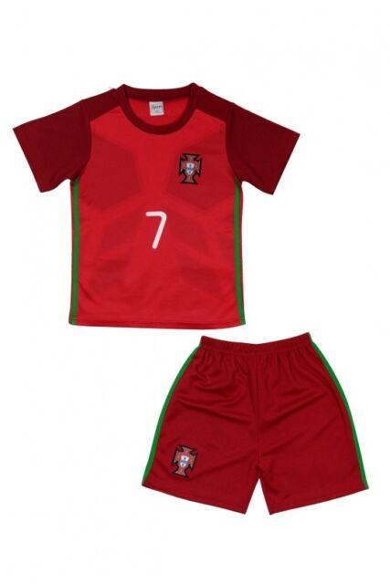 Portugal Enfants de la Jeune Fille Maillot Football /& Pantalon Équipe Jersey