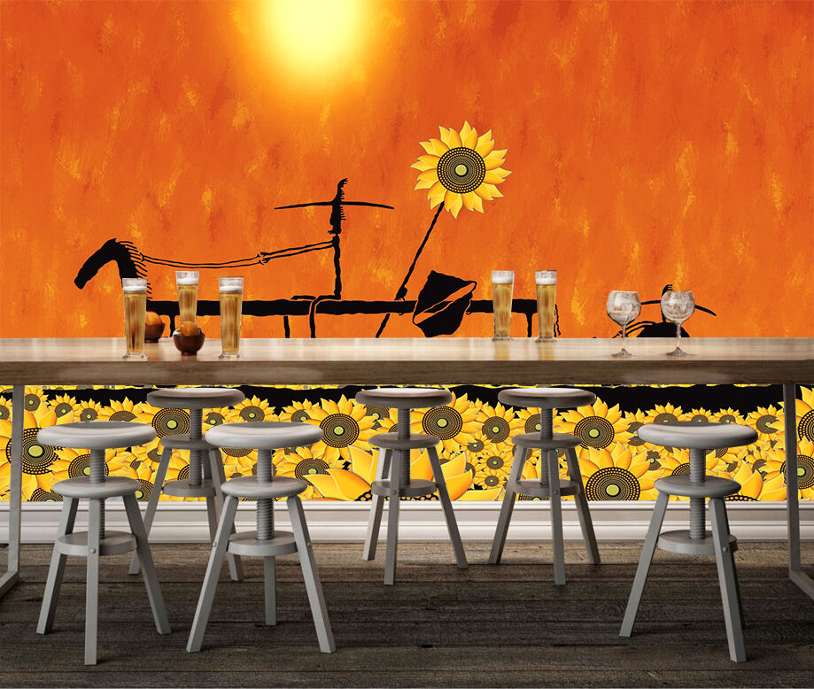 3D Nice sunflowers 787 Wall Paper Wall Print Decal Wall Deco Indoor wall Murals