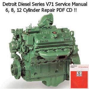 Details about Detroit Diesel Series V-71 Factory Service Manual Engine  Workshop Repair *Nice*