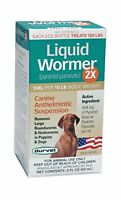 Durvet Liquid Wormer 2x 2 Oz Dog Dewormer Safe To Use On Puppies 2 Weeks & Up