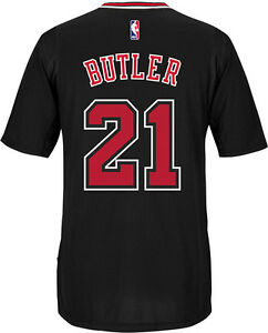 quality design 889d4 4d8aa Image is loading Chicago-Bulls-Jimmy-Butler-adidas-Black-Swingman-climacool-