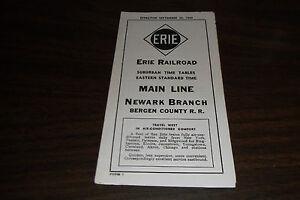 SEPTEMBER-1954-ERIE-RAILROAD-FORM-7-MAIN-LINE-NEWARK-BRANCH-PUBLIC-TIMETABLE