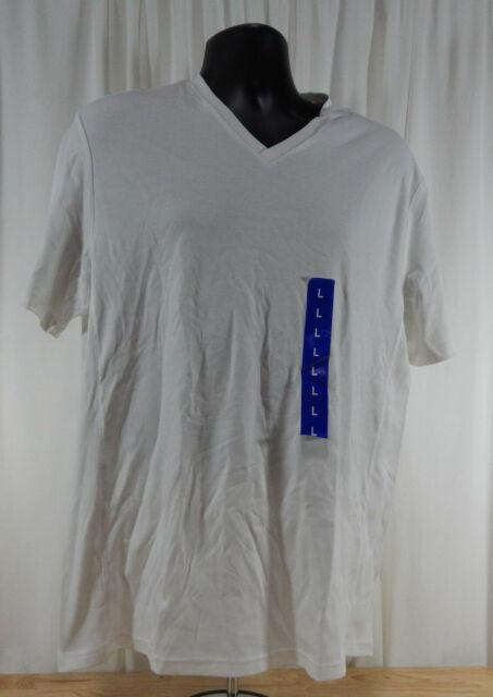 b4613c8b62d8 Calvin Klein Men's Short Sleeve Cotton V-neck T-shirt White Size 2xl ...