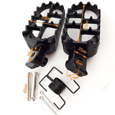 New Foot Pegs For Yamaha PW50 PW80 TW200 TT-R50E TT-R90E Honda  XR50 XR70 CRF70F