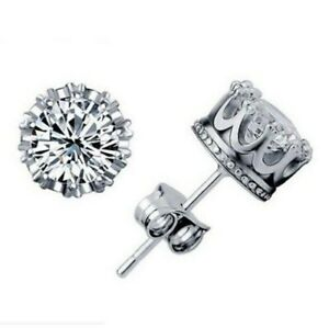 2-25-ct-White-Sapphire-Round-Crown-Stud-Earrings-in-Solid-Sterling-Silver