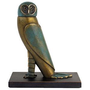 PAUL-WUNDERLICH-Original-Bronzeskulptur-034-KLEINE-EULE-034