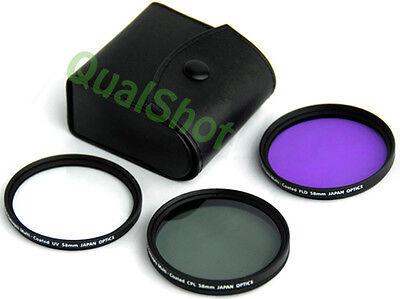 EVOLT E-410 EVOLT E-510-58mm High Resolution 3-piece Filter Set UV Fluorescent Polarizer