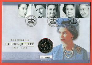 2002 RMC29 The Queen's Golden Jubilee £5 Coin Cover
