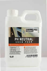 valetpro ph neutral snow foam 1 litre ebay. Black Bedroom Furniture Sets. Home Design Ideas