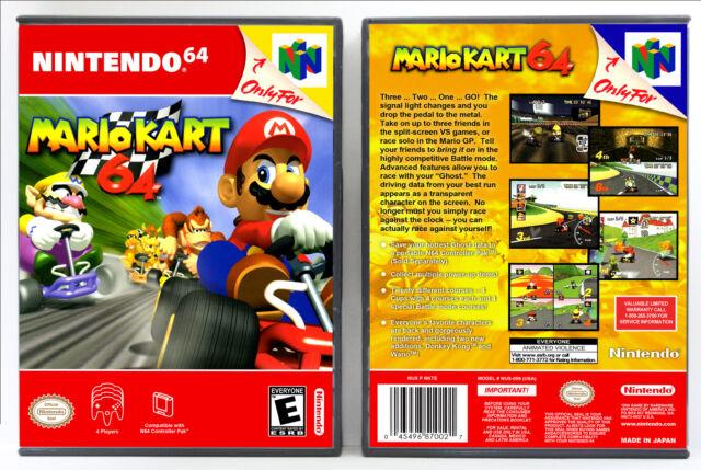 Mario Kart 64 Nintendo 64 N64 Custom Case No Game