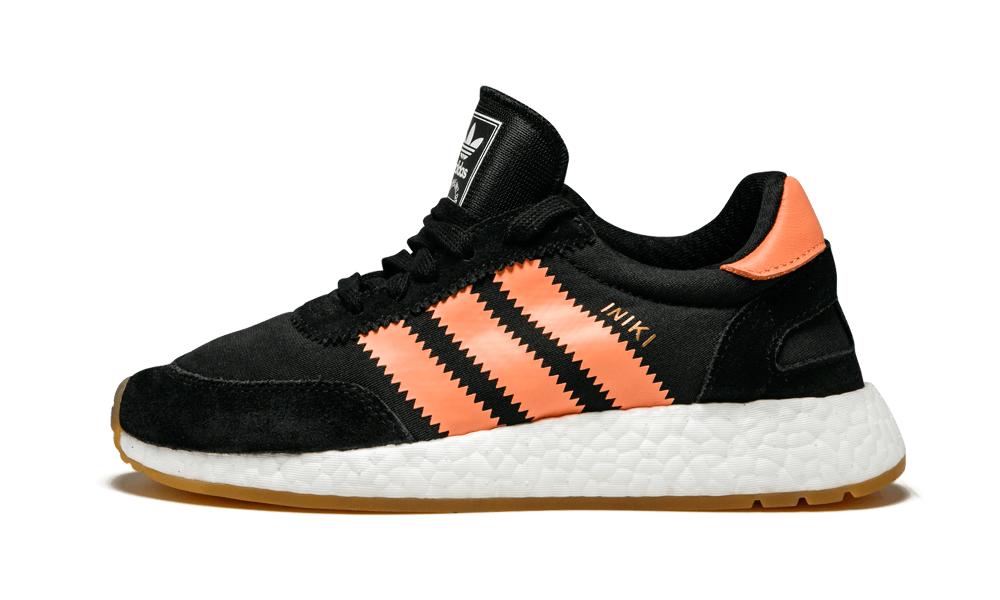 Adidas  INIKI RUNNER W nero Semi Flash arancia scarpe da ginnastica BY9098 (424) Scarpe femminili  articoli promozionali