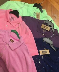 NWT-Found-Polo-Shirt-3XLT-2XLT-2XL-XLT-PINK-Anchor-Cotton-golf-big-tall-JC005