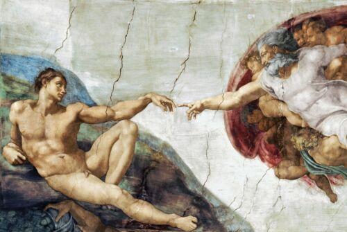 CREATION OF MAN MICHELANGELO ART POSTER 24x36-1355