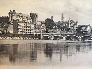 Antique-Vintage-Post-Card-Paris-Collection-Du-Chateau-Le-Chateau-et-les-Hotels