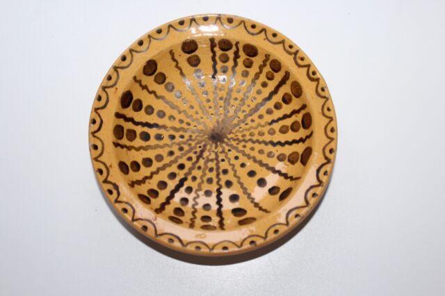 Ecuelle époque 19 ème siècle en poterie céramique vernissée du Sud de la France