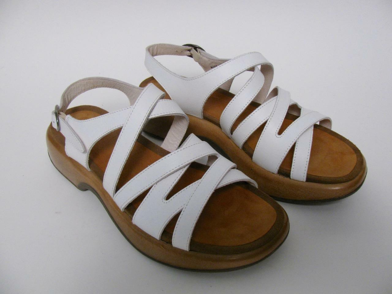 DANSKO LOLITA LADIES WHITE LEATHER STRAPPY STEVIE DANI SANDALS SHOES42   12
