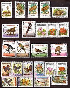 KAMPUCHEA-Oiseaux-flores-papillonq-reptiles-323T5