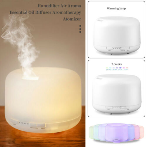 500ml Essential Oil Diffuser Humidifier Air Aromatherapy 7LED Ultrasonic Aroma
