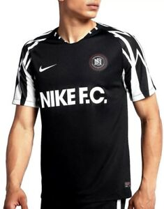 the best attitude e90dc 61596 Details about NIKE F.C. SOCCER JERSEY / FOOTBALL SHIRT AA8128-010  Black/White (MEN'S Med) M